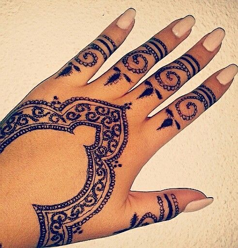 Mehndi Patterns We Heart It : On we heart it henna pinterest and