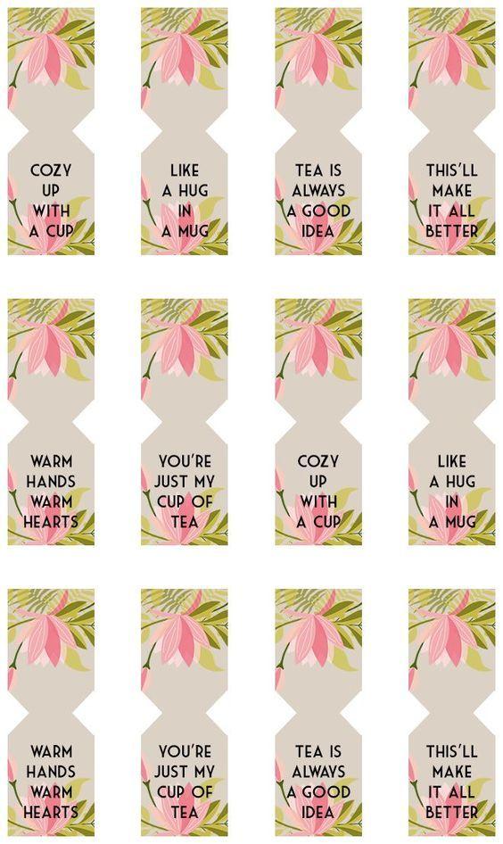 Floral Free Printable Tea Bag Tags Bags Tags And Bag Tag Diy