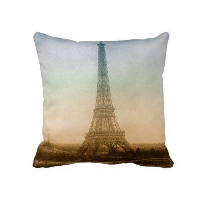The Eiffel Tower In Paris Pillows