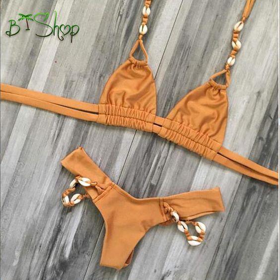 Newest Women Push Up Print Swimwear Bikini Set Sexy Bandage Beach Ladies Swimsuit Bathing Suit Brazilian Maillot De Bain