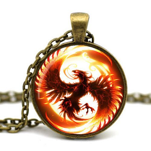 2015 Newest Song Of Ice And Fire Game Of Thrones Antique Bronze Chain Cabochon Firebird Dragon Necklace Of Juego De Tronos