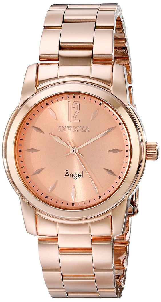 Invicta Women's 17421 Angel Analog Display Swiss Quartz Rose Gold Watch *** Continue to the watch at the image link.
