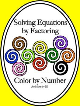 solving equations color by numbers and number activities on pinterest. Black Bedroom Furniture Sets. Home Design Ideas