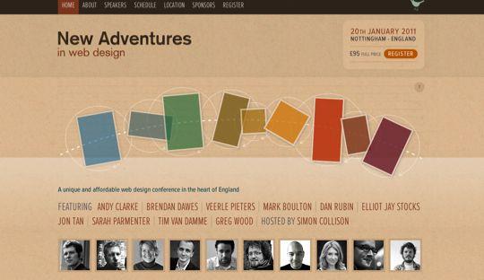 35 Inspiring Design And Development Related Event Websites Web Design Well Designed Websites Conference Design
