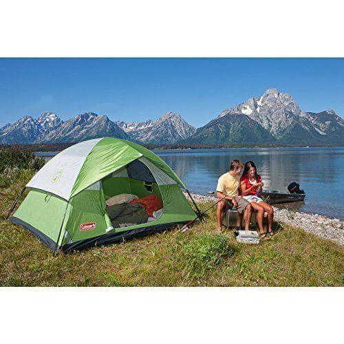 Four Person Tent 4 Access C&ing Coleman Dome Family Green Hiking Outdoor Sun | Dome tent Tents and Happy c&ers  sc 1 st  Pinterest & Four Person Tent 4 Access Camping Coleman Dome Family Green Hiking ...