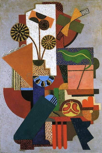 http://UpCycle.Club UpCycle Art & Life #HistoryProject presents Composition oil painting by - Auguste Herbin @upcycleclub