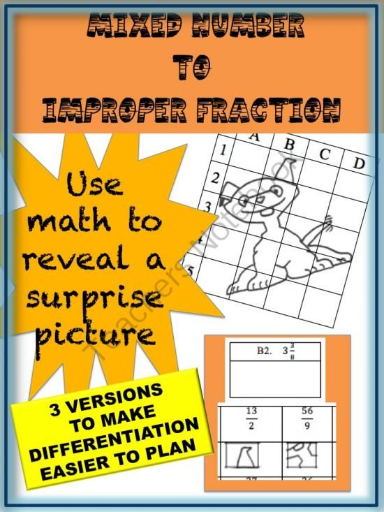 math worksheet : mixed number to improper fraction puzzle activity worksheet 18  : Fraction Puzzle Worksheets