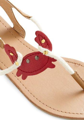 so sweet! little crabby sandals
