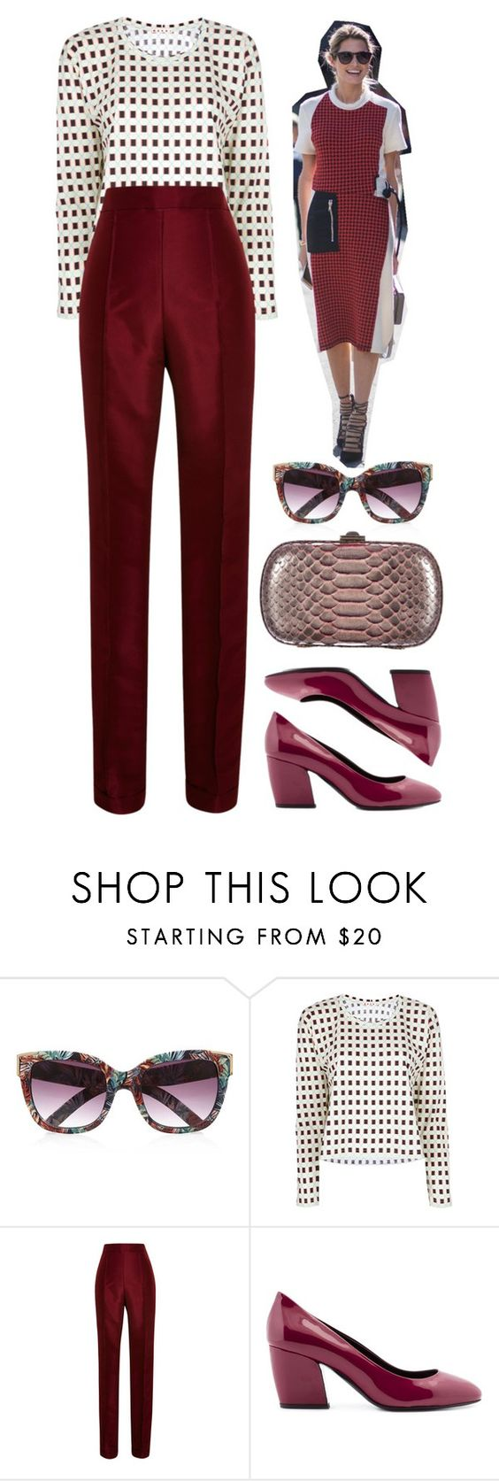 """Carmine"" by cherieaustin on Polyvore featuring River Island, Marni, Rosie Assoulin, Pierre Hardy, Kara Ross, RiverIsland, karaross, marni, PierreHardy and RosieAssoulin"