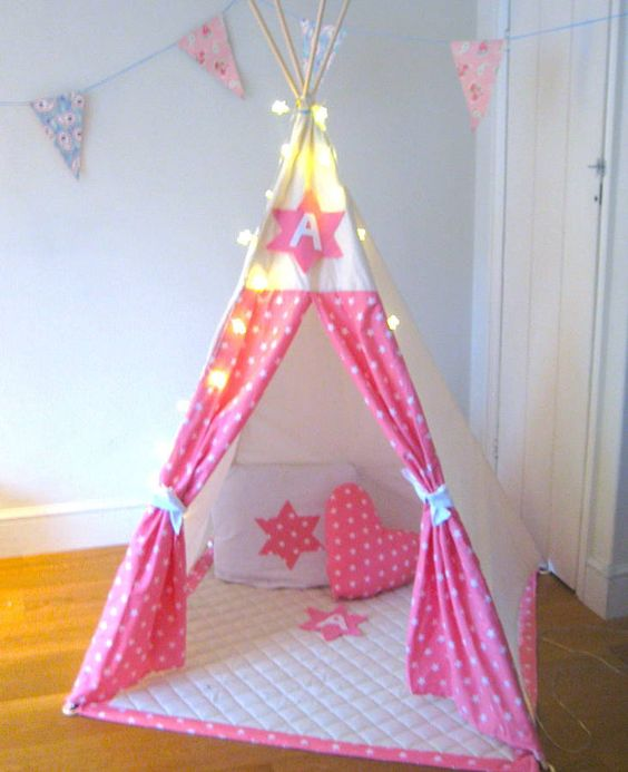 star initial play teepee by love lime | notonthehighstreet.com: