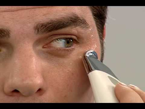 Galvanic face spa uses antioxidants and galvanic current to reverse the aging process - this demo talks about the wrinkle treatment