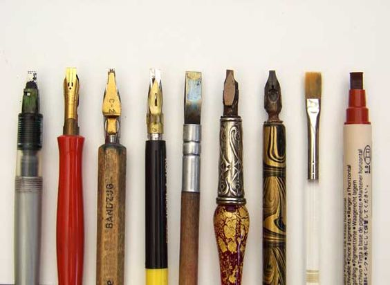 Calligraphy pens and tools on pinterest