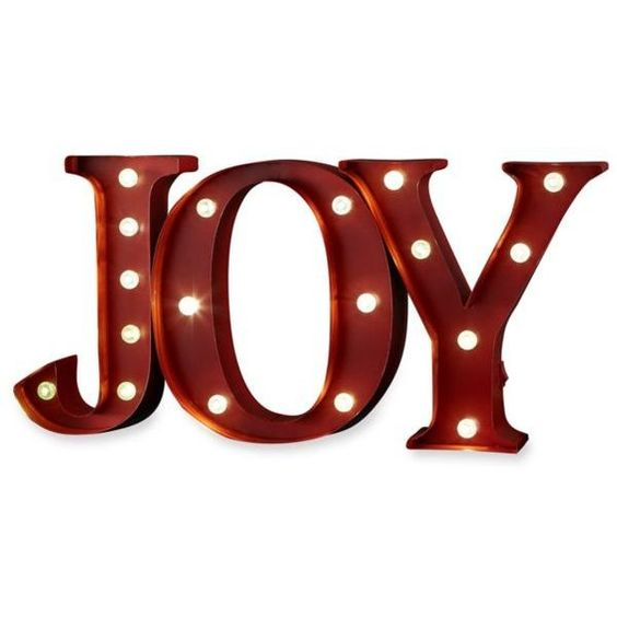 Order  Home Collection Red Joy Led Marquee 9-In. Sign (¥4,935) ❤ liked on Polyvore featuring home, home decor, wall art, decor, christmas, words, red, red metal wall art, red home decor and metal wall art