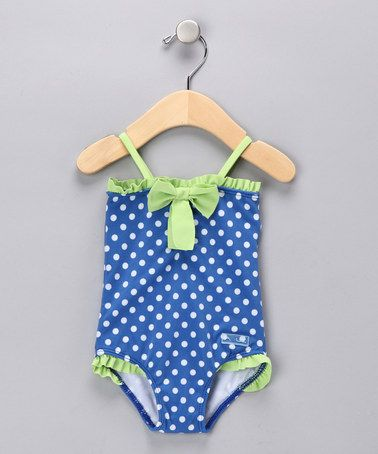 Take a look at this Blue Connect the Dots One-Piece - Infant by Azul Swimwear on #zulily today!