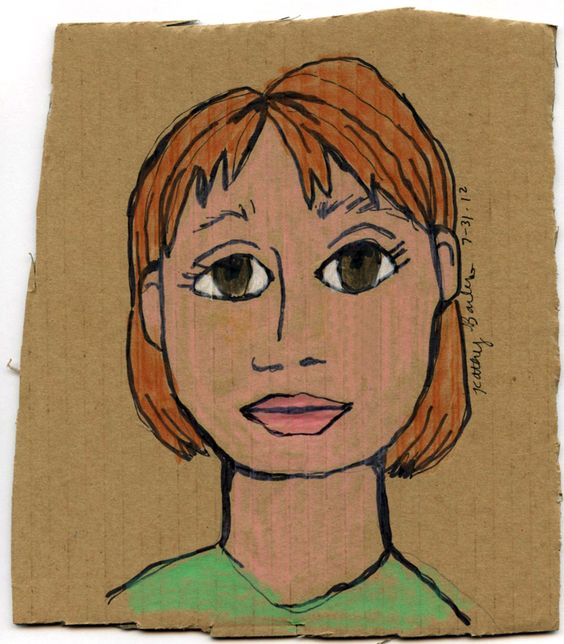 Art Projects for Kids: Portraits on Cardboard