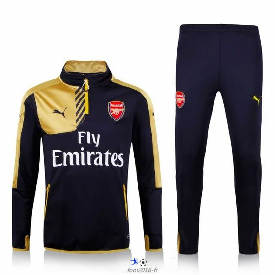 ensemble officiel nouveau survetement de foot arsenal jaune noir 2015 2016 prix prix. Black Bedroom Furniture Sets. Home Design Ideas