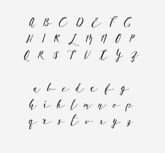 Moldes De Letras Cursivas Para Imprimir Abecedario En Letra Grande In 2020 Lettering Alphabet Lettering Caligraphy