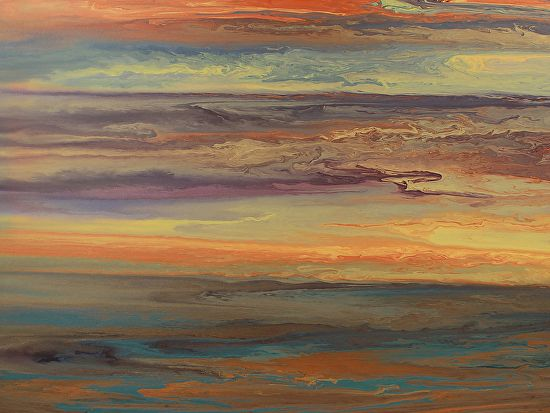 Blazing Sky Reflected by Kimberly Conrad Acrylic ~ 30 x 40
