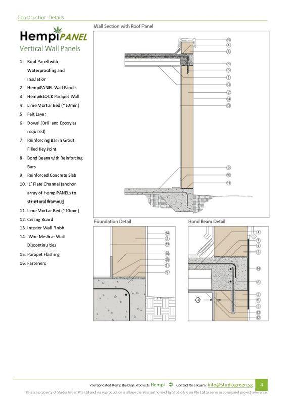 Prefabricated Hempcrete Specification And Installation Manual 2015 Installation Manual Prefab Roof Panels