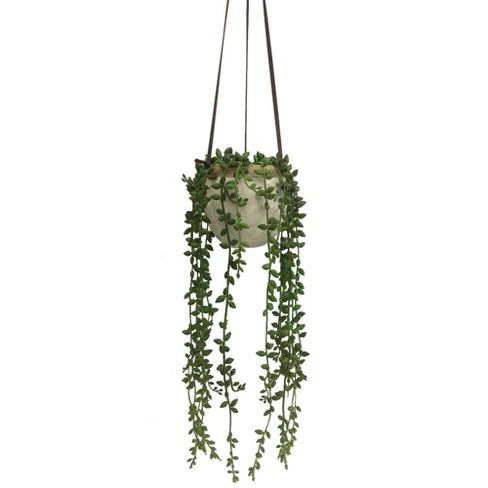 Small Artificial Hanging Plant Green - Threshold BEDROOM INSPIRATION: Target Bedroom decor decoration ideas and inspo