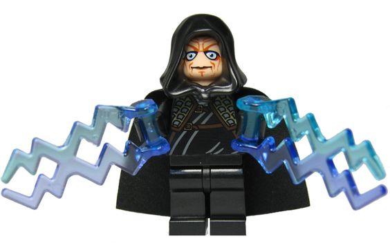 Custom Minifigur aus LEGO Star Wars Bauteilen: Imperator Palpatine / Darth Sidious mit 2 Machtblitzen und Laserschwert: Amazon.de: Spielzeug