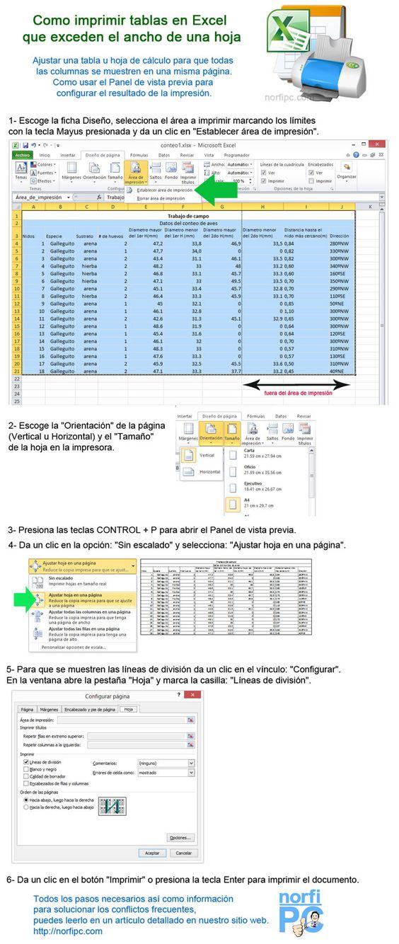Como imprimir tablas en excel que exceden el ancho de una for Como se liquida una nomina en excel