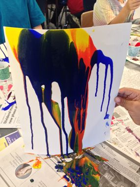 Gravity Painting. Force: Gravity and friction. material: tempera ...