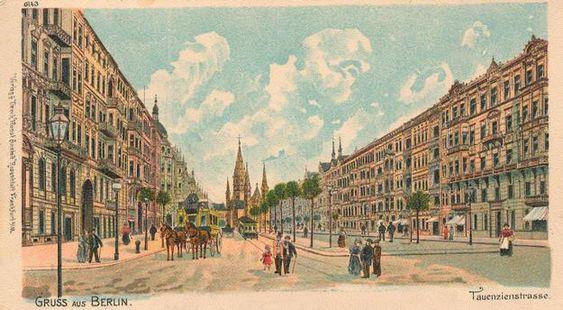 Gruss aus Berlin / Tauenzienstrasse, um 1900