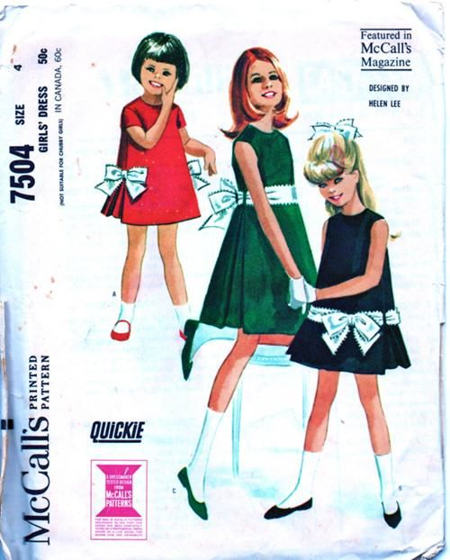 McCalls 7504 ~ Helen Lee, vintage 1964