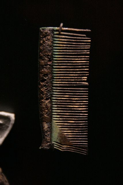 Viking comb artifact...  Imagine the time and care spent in carving that.