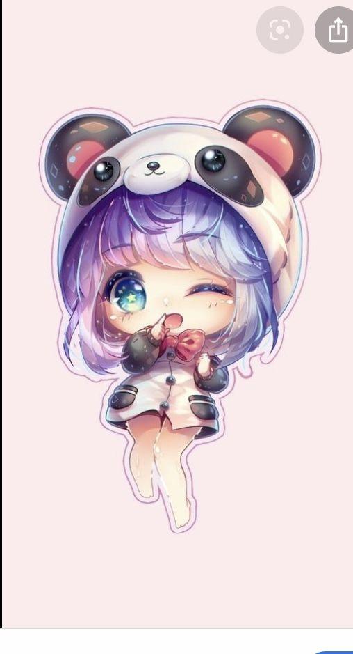 Panda Girl Kawaii Drawings Cute Anime Chibi Cute Kawaii Drawings