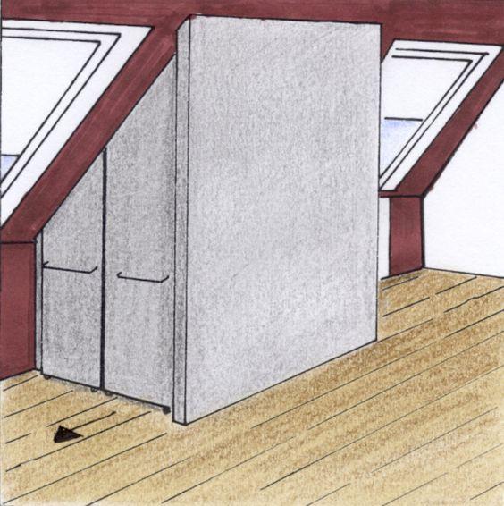 das thema stauraum ist in wohnungen mit dachschr ge oftmals ein gro es problem da meist. Black Bedroom Furniture Sets. Home Design Ideas