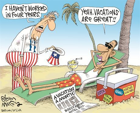 Out of work? Look what Obama's doing with your money!! Vacation is Great!: