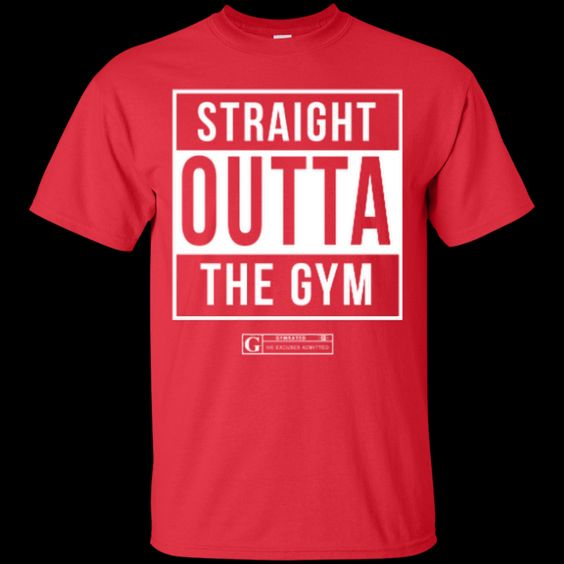 """Straight Outta the Gym"" Men's Tees & Tanks"