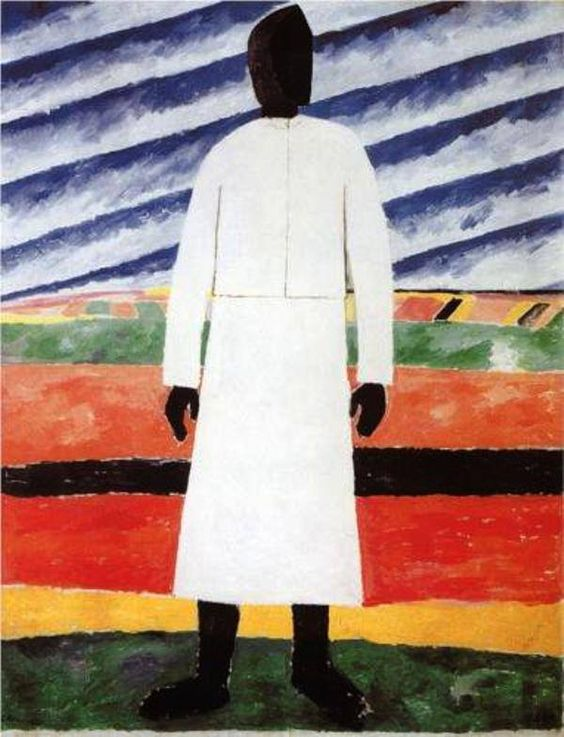 Kazimir Malevich - Peasant Woman. Oil on canvas. Russian Museum, St. Petersburg, Russia: