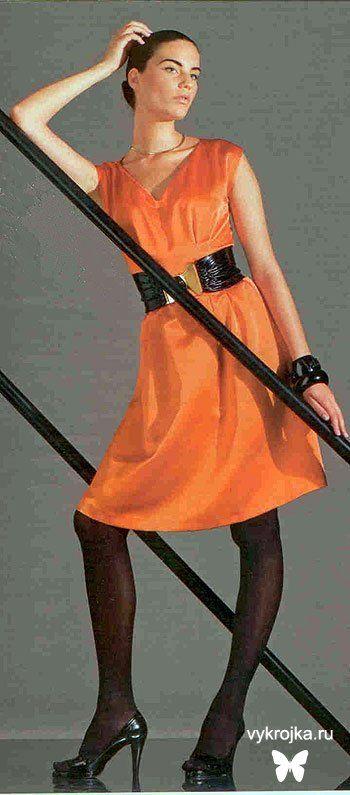 Оранжевое платье для коктейля #EasyNip