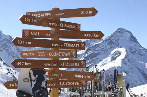 Les 2 Alpes - Isère - France - Plan d'accès 2 alpes : Les deux Alpes, routes et itinéraires pour rejoindre la station des 2 alpes.