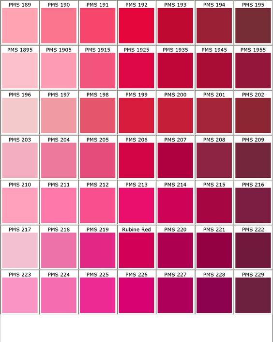 Color chart hair pinterest charts search and colour - Gama de colores rosas ...