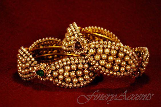 $50  (GRAND COLLECTION) 2 Piece pearl bangle set SKU: 100-39 C Pearl Wave