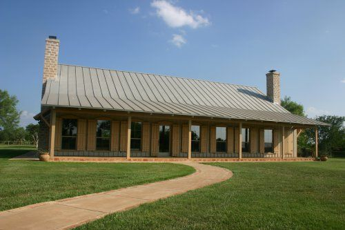 Texas ranch love the shudders and the metal roof lake for Texas ranch house plans with porches