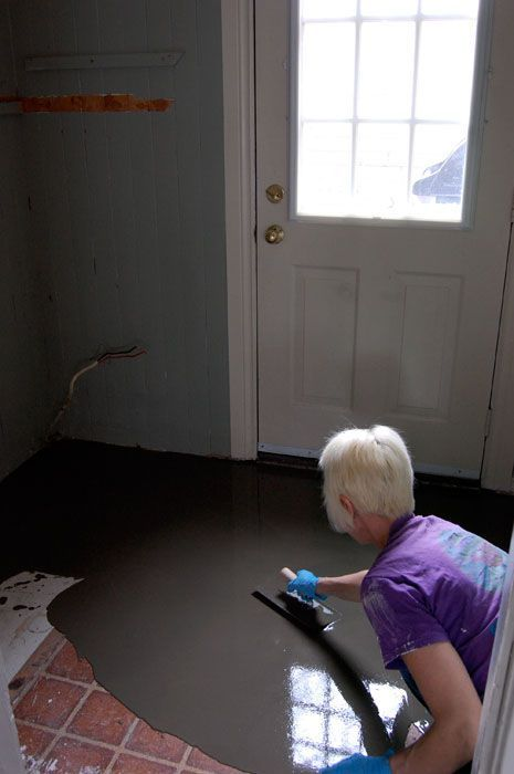 Diy Screed Bathroom Floor : How to pour self levelling cement yourself concrete