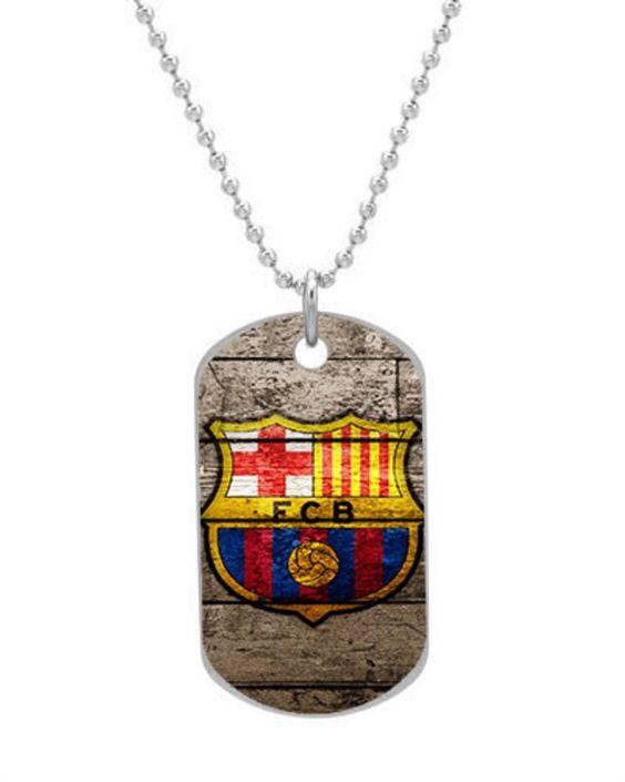 NEW FC BARCELONA FC SOCCER Custom Unique Oval Dog Tag Pet Tag Necklace Pendant