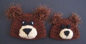 Preemie bear hat, Preemie Baby Hats! NICU, UW NICU, micro preemie, Christmas, Crochet, christmas, Creative giving, crafts, preemie