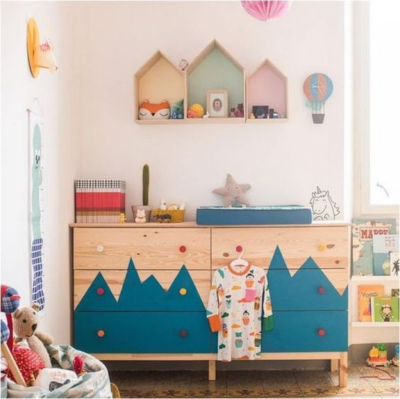 Mommo design ikea hacks for kids tarva dresser kids for Room decor hacks