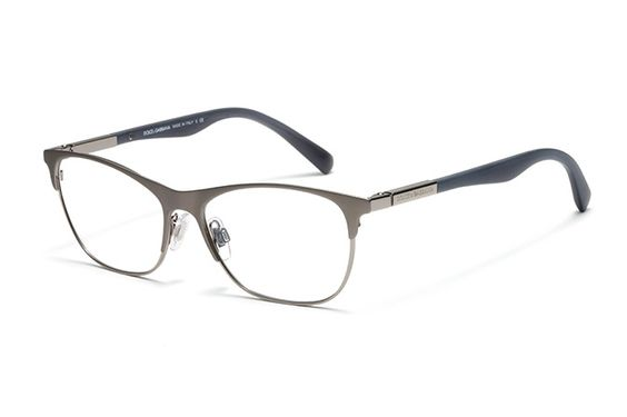 Womens gunmetal metal and acetate eyeglasses with squared ...