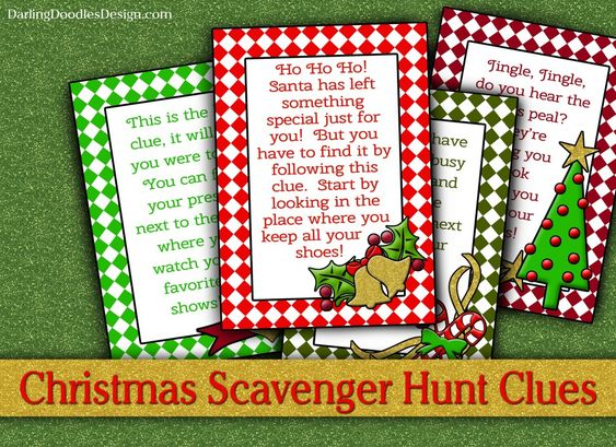 Scavenger Hunts, Hunt's And Christmas Scavenger Hunt On