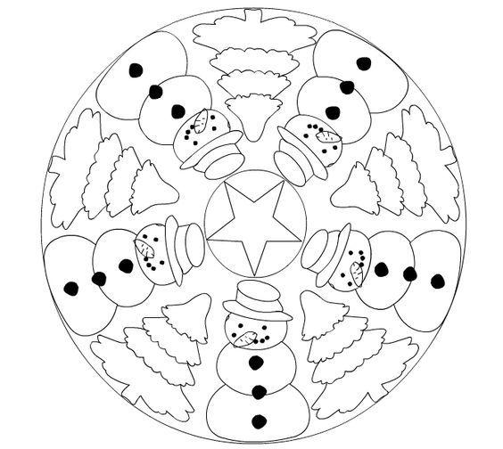 Yeni Yil Boyama Sayfalari Ve Kaliplari Christmas Mandala