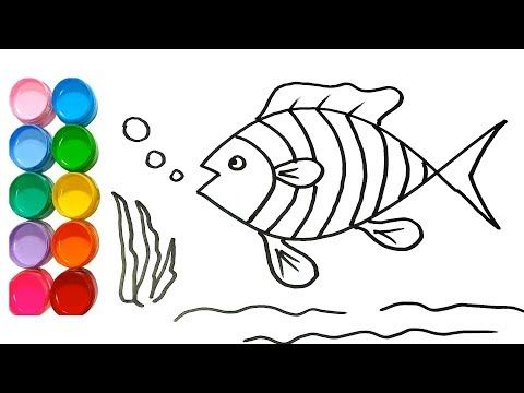 How To Draw A Cartoon Fish Easy Kids Art Lesson Tutorial Drawing Aylin Blog Drawing Images For Kids Drawing For Kids Bird Drawing For Kids