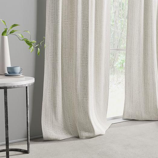 Cotton Canvas Bomu Curtains Set Of 2 Stone Gray Grey Walls