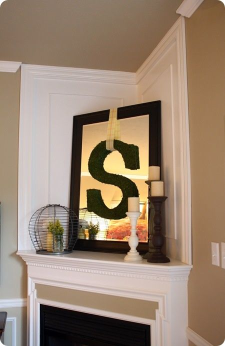 I like the idea of a mirror above the corner fireplace - How to decorate a mantel with a mirror above it ...